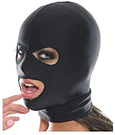 Amosfun Giocattolo di corteggiamento di coppia maschera cappuccio cappuccio in pelle
