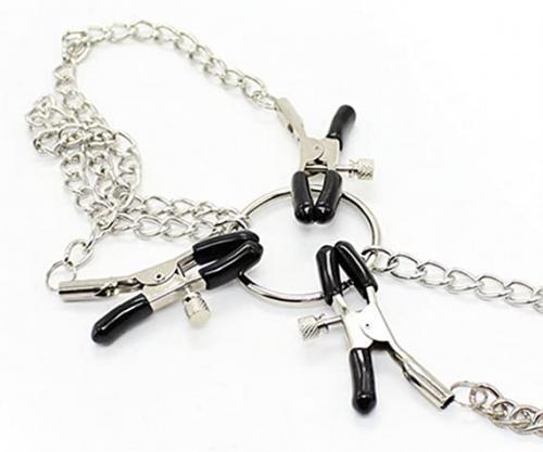 Donna in acciaio inossidabile con catena a pinza, clip regolabile