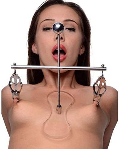 Morsetti per capezzoli etici, regolabili, in acciaio inox, per capezzoli, stimolazione erotica
